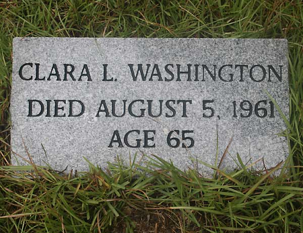 Clara L. Washington Gravestone Photo