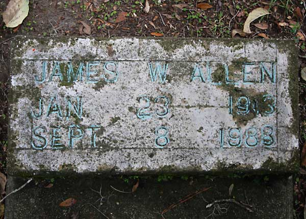 James W. Allen Gravestone Photo
