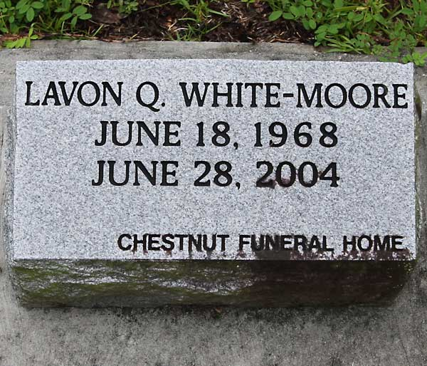 Lavon Q. White-Moore Gravestone Photo