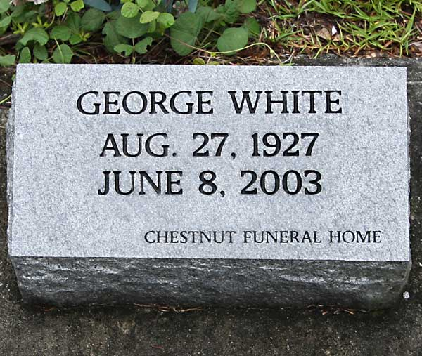 George White Gravestone Photo