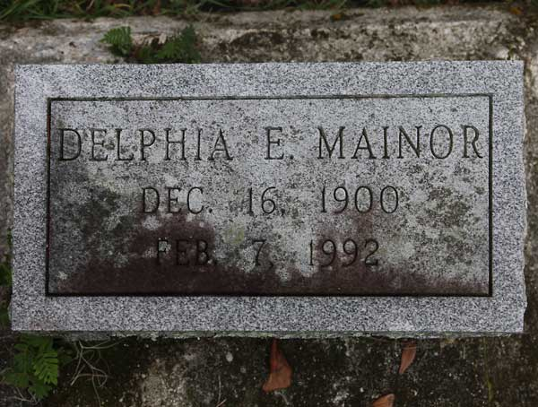 Delphia E. Mainor Gravestone Photo
