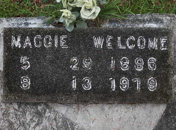 Maggie Welcome Gravestone Photo