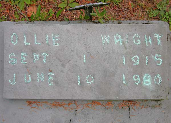 Ollie Wright Gravestone Photo