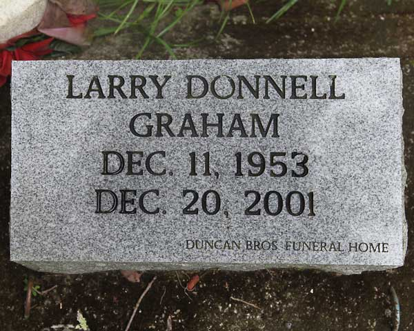 Larry Donnell Graham Gravestone Photo
