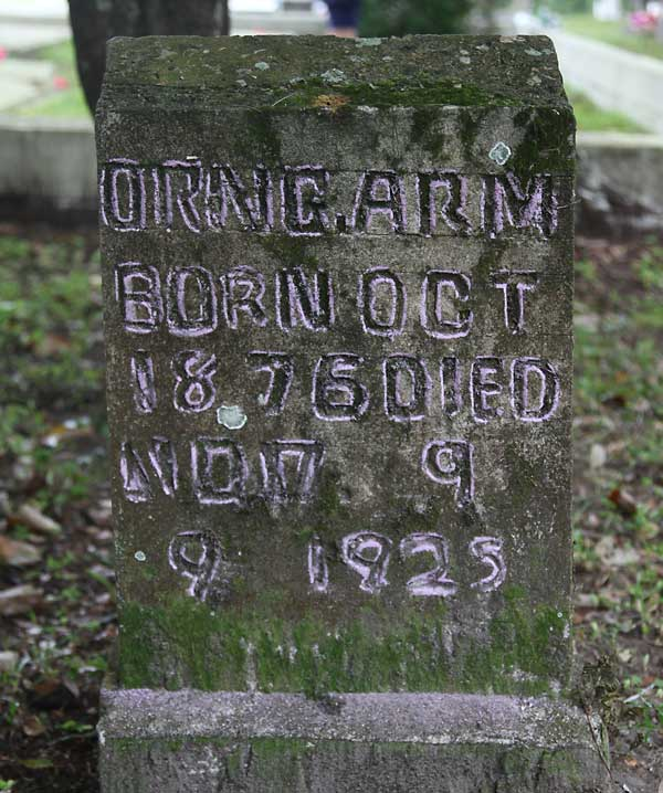 Orin G. Arm Gravestone Photo