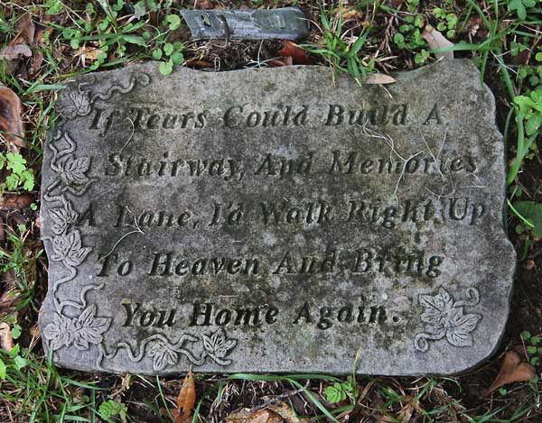 Plaque on Grave Gravestone Photo