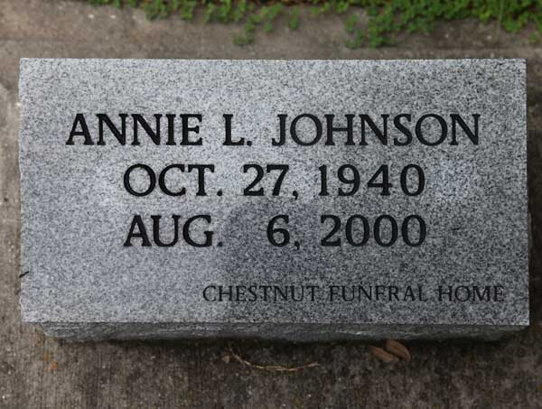 Annie L. Johnson Gravestone Photo