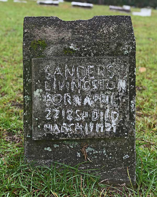 Sanders Livingston Gravestone Photo