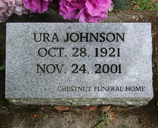 Ura Johnson Gravestone Photo