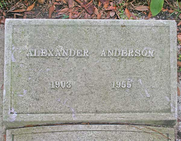 Alexander Anderson Gravestone Photo