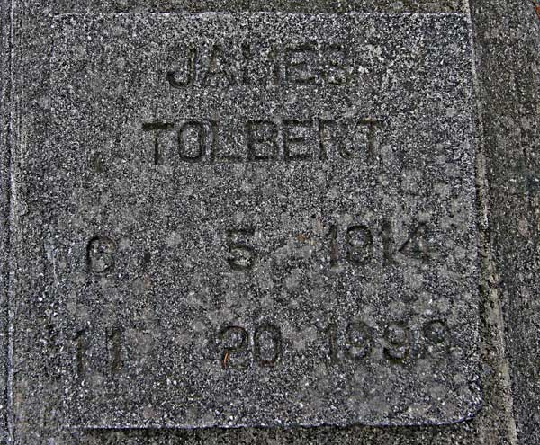 James Tolbert Gravestone Photo