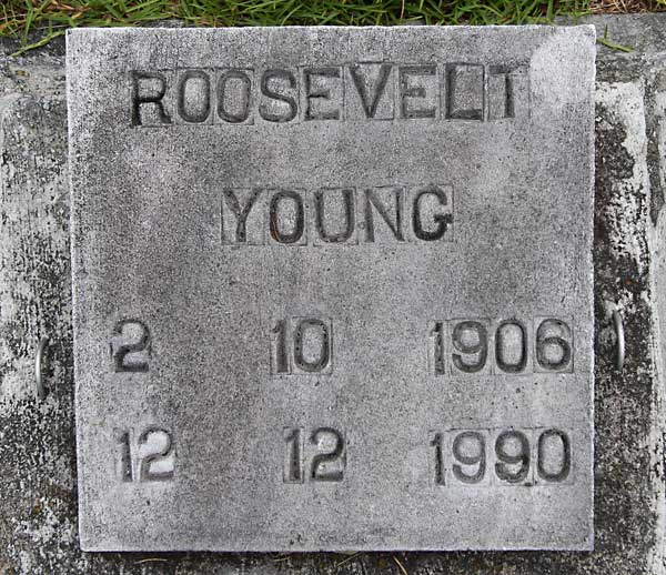 Roosevelt Young Gravestone Photo