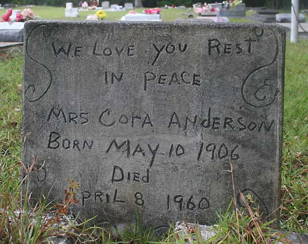 Cora Anderson Gravestone Photo