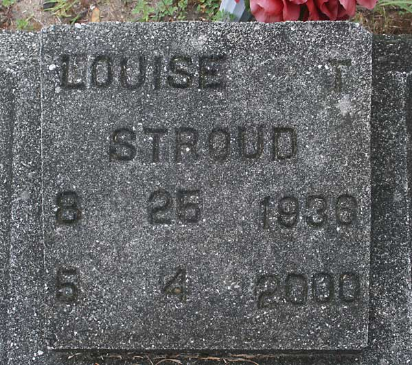 Louise T. Stroud Gravestone Photo