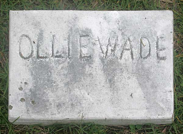 Ollie Wade Gravestone Photo