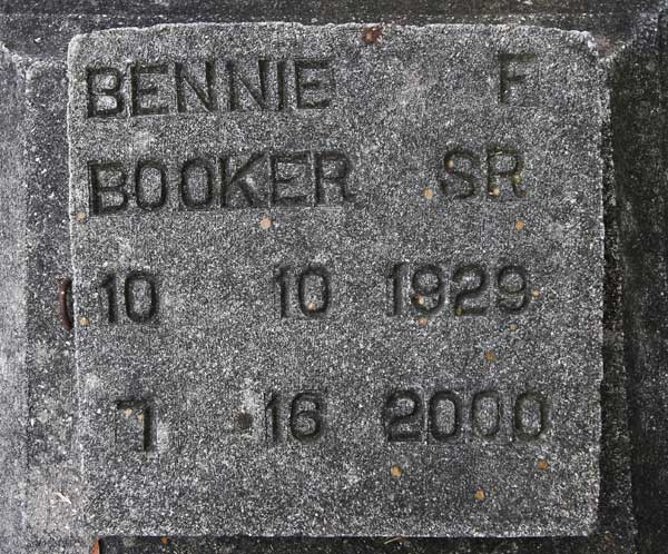 Bennie F. Booker Gravestone Photo