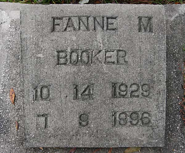 Fannie M. Booker Gravestone Photo