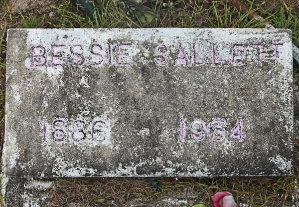 Bessie Sallett Gravestone Photo