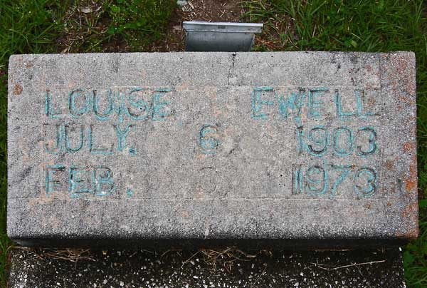 Louise Ewell Gravestone Photo