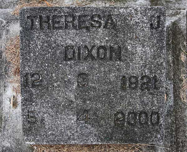 Theresa J. Dixon Gravestone Photo