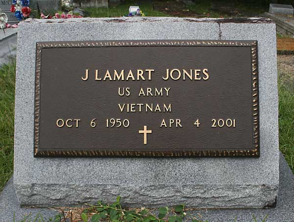 J Lamart Jones Gravestone Photo