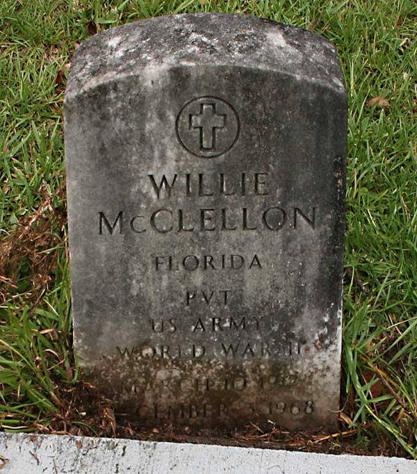 Willie McClellon Gravestone Photo