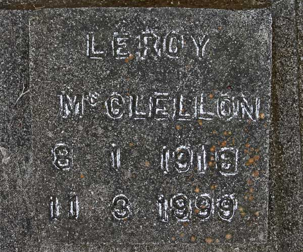 Leroy McClellon Gravestone Photo