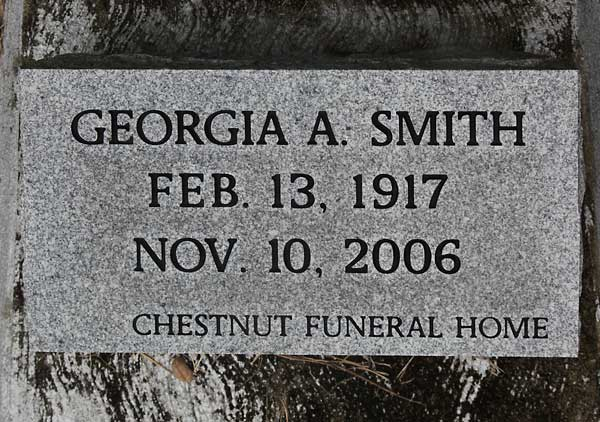 Georgia A. Smith Gravestone Photo