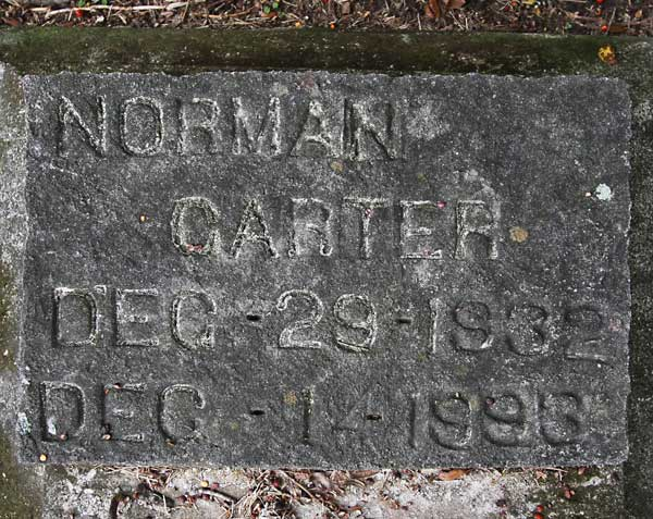 Norman Carter Gravestone Photo