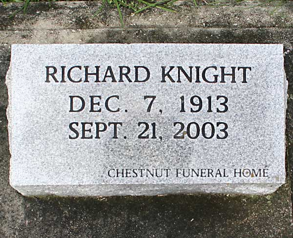 Richard Knight Gravestone Photo