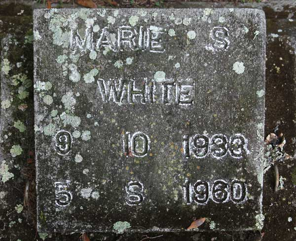 Marie S. White Gravestone Photo