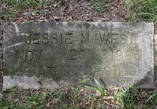 Jessie N. West Gravestone Photo