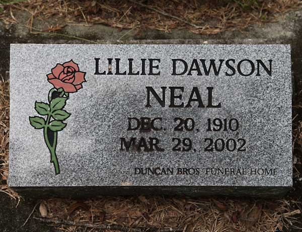 Lillie Dawson Neal Gravestone Photo