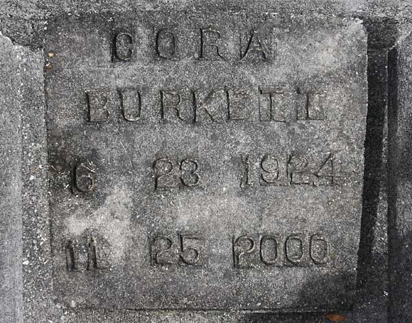 Cora Burkett Gravestone Photo