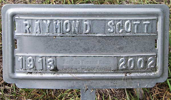 Raymond Scott Gravestone Photo