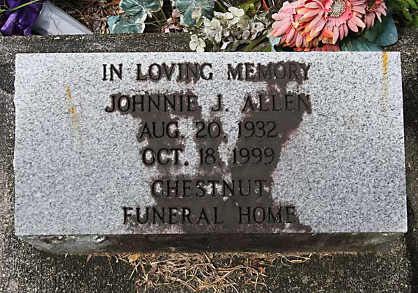 Johnnie J. Allen Gravestone Photo