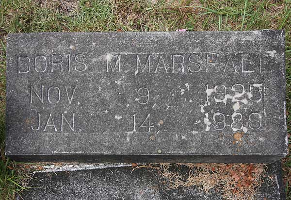 Doris M. Marshall Gravestone Photo
