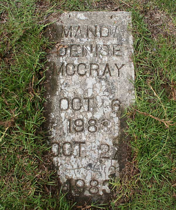 Amanda Denise McCray Gravestone Photo