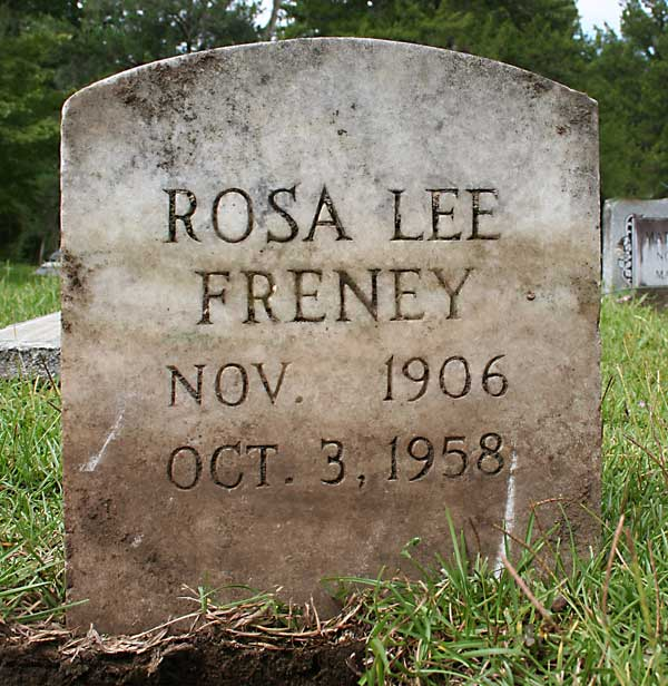 Rosa Lee Freney Gravestone Photo