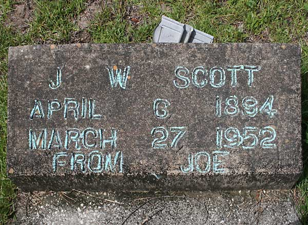 J. W. Scott Gravestone Photo