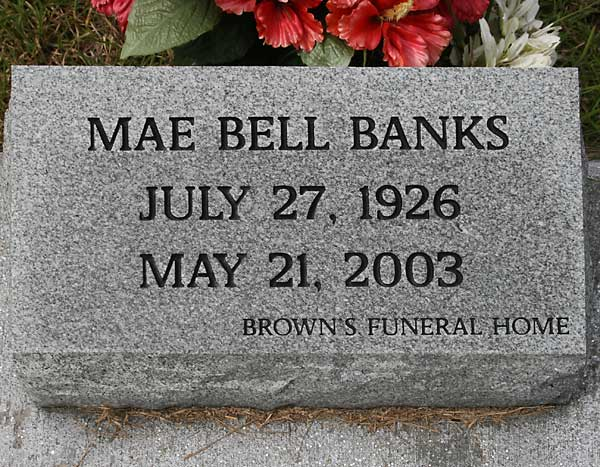Mae Bell Banks Gravestone Photo