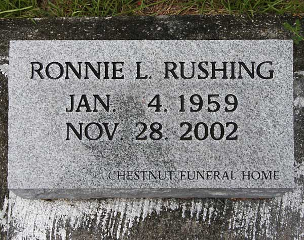 Ronnie L. Rushing Gravestone Photo