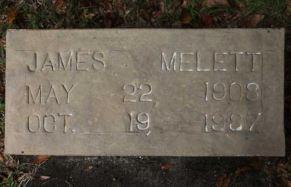 James Melett Gravestone Photo