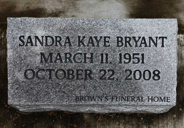 Sandra Kaye Bryant Gravestone Photo