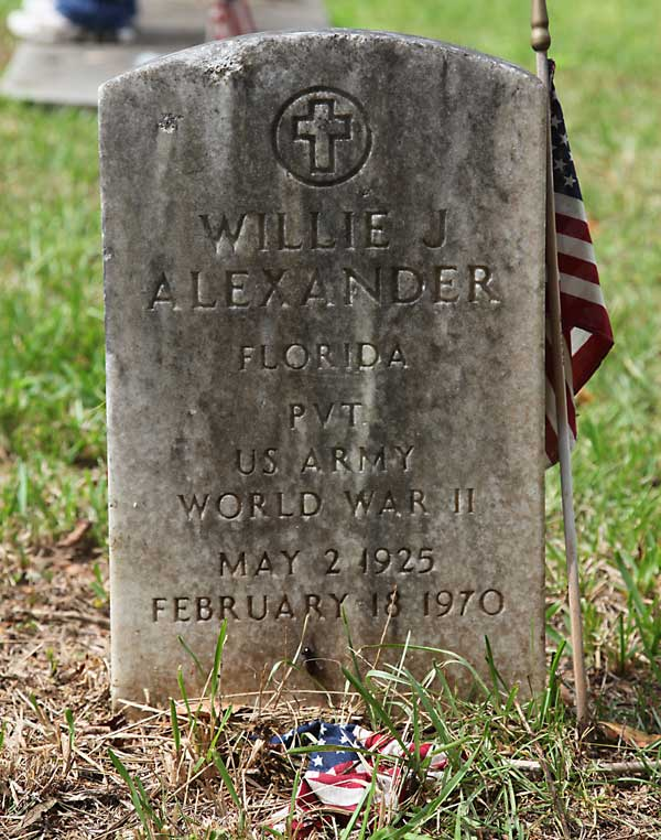 Willie J. Alexander Gravestone Photo