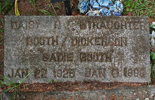 Daisy P. Straughter Booth Dickerson Gravestone Photo