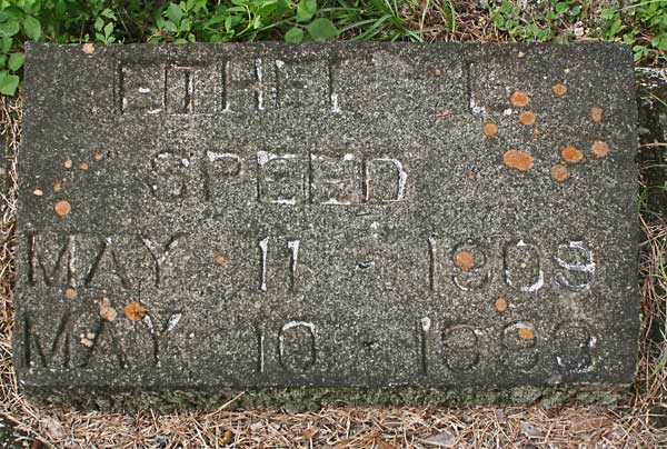 Ethel L. Speed Gravestone Photo