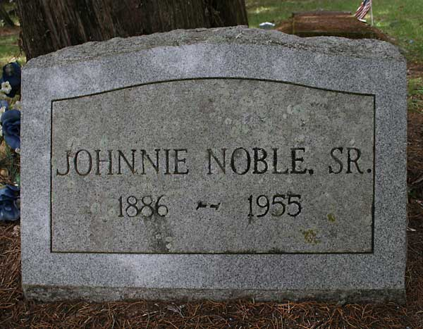 Johnnie Noble Gravestone Photo