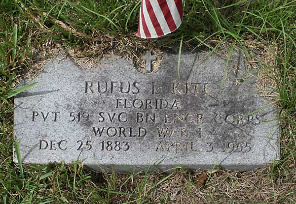 Rufus L. Kite Gravestone Photo