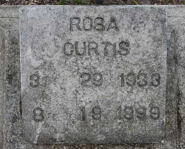 Rosa Curtis Gravestone Photo